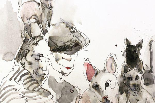 <span>Drawings</span>Parisian / Paryžiečiai
