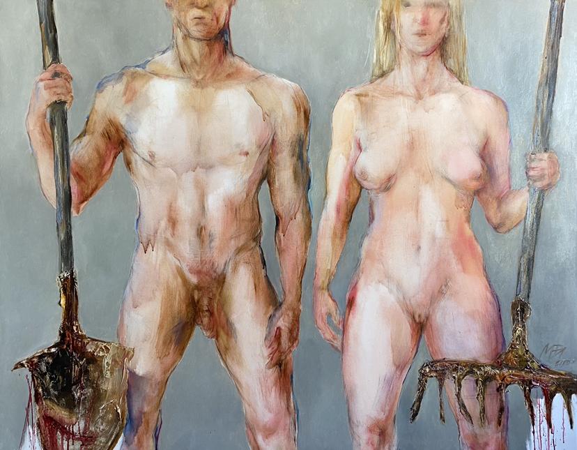 <span>Drawings</span>Managers of the world. Eve and Adam / Pasaulio tvarkytojai. Ieva ir Adomas